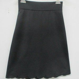 Red Valentino Skirt Size 40 Scalloped Black A Line
